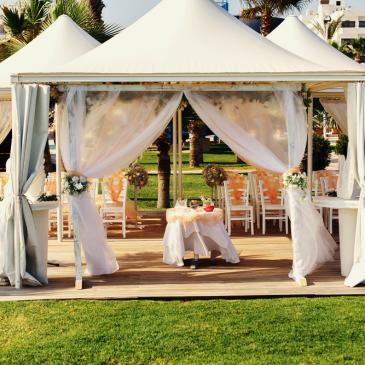 Casamento com palco e estrutura ideal para shows