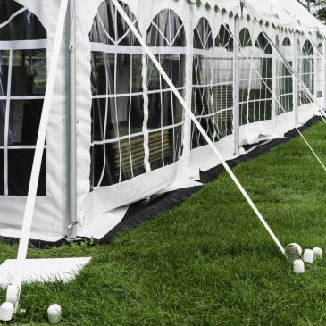 Detalhes da tenda para eventos