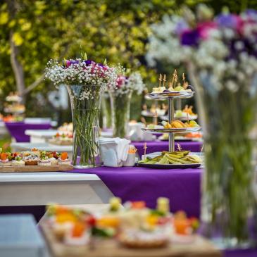 Opções de buffet para casamento