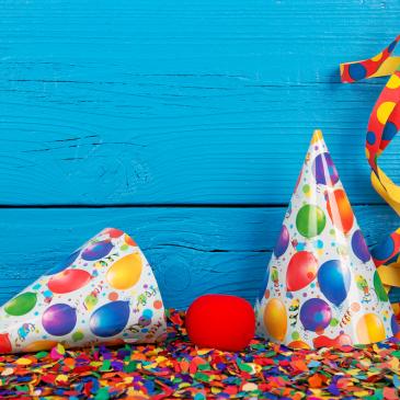 Equipamentos para festas infantis e outras comemorações
